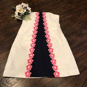 Lilly Pulitzer   wesley strapless dress w flowers